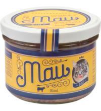 Wuff & Mau Heimtiernahrung Mau Premium Katzennahrung Rind, 200 gr Glas