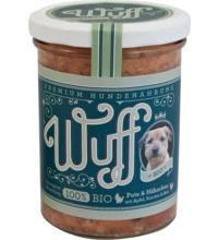 Wuff & Mau Heimtiernahrung Wuff Premium Hundefutter Pute & Hähnchen, 400 gr Glas