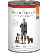 Defu Biofutter Hundemenü mit Rind, 410 gr Dose