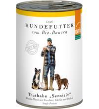 Defu Biofutter Hundemenü mit Truthahn, 410 gr Dose