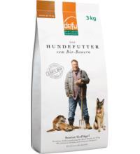 Defu Biofutter Hundefutter Geflügel Senior, 3 kg Packung