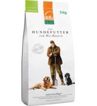 Defu Biofutter Hundefutter Geflügel Adult, 3 kg Packung