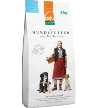 Defu Biofutter Hundefutter Geflügel Junior, 3 kg Packung