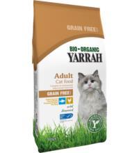 Yarrah Katzentrockenfutter Adult getreidefrei Huhn & Hering, 800 gr Beutel
