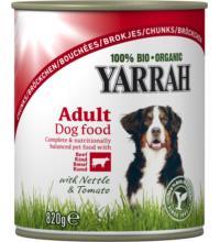 Yarrah Hundefutter Bröckchen, 820 gr Dose