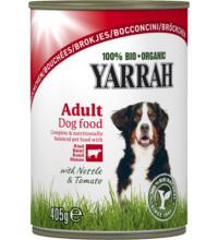 Yarrah Hundefutter Bröckchen Huhn mit Rind, 405 gr Dose
