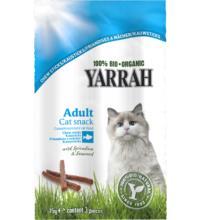 Yarrah Kausticks Fisch für Katzen, 15 gr Packung