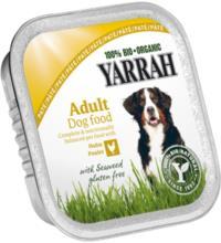 Yarrah Hundefutter Paté Huhn und Seetang, 150 gr Aluschale