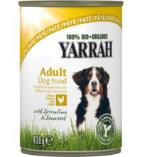 Yarrah Hundefutter Paté Huhn, 400 gr Dose
