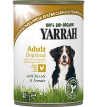 Yarrah Hundefutter Bröckchen Huhn, 405 gr Dose