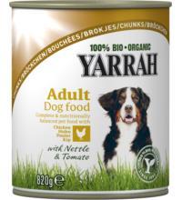 Yarrah Hundefutter Bröckchen Huhn, 820 gr Dose
