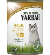 Yarrah Katzen Bröckchen Huhn, 405 gr Dose