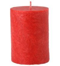 Kerzenfarm Stearin-Stumpen klein rot, 50 x 65 mm, 1 Stück