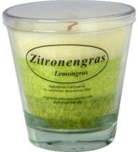 Kerzenfarm Stearinkerze Zitronengras im Glas, natürliche ätherische Öle, 1 Stück