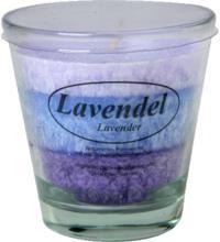 Kerzenfarm Stearinkerze Lavendel im Glas, natürliche ätherische Öle, 1 Stück