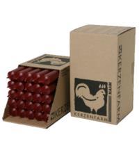 Kerzenfarm Paraffin Stabkerze, dunkelrot, ca. 180/22 mm, 1 Stück