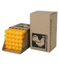 Kerzenfarm Paraffin Stabkerze, gelb, ca. 180/22 mm, 1 Stück