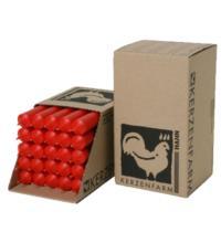 Kerzenfarm Paraffin Stabkerze, rot, ca. 180/22 mm, 1 Stück