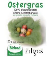 Filges - Wollmanufaktur Ostergras aus pflanzengefärbter Schurwolle, 20 gr Packung