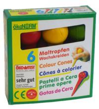 nawaro Maltropfen, 6 Farben,1 Packung