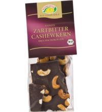 Rosengarten Bruchschokolade Zartbitter-Cashew, 120 gr Packung
