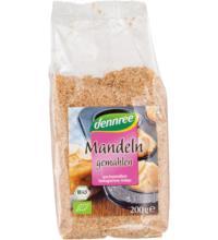 dennree Mandelkerne, gemahlen, geröstet, 200 gr Packung