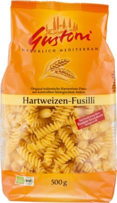 Hartweizen-Fusilli