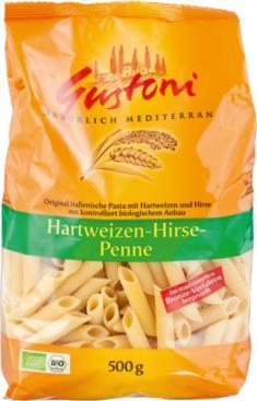 Hartweizen-Hirse-Penne